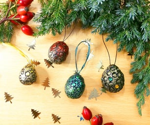 Dragon Egg Christmas Ornaments