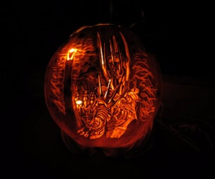 How to Carve Sauron, the Dark Lord