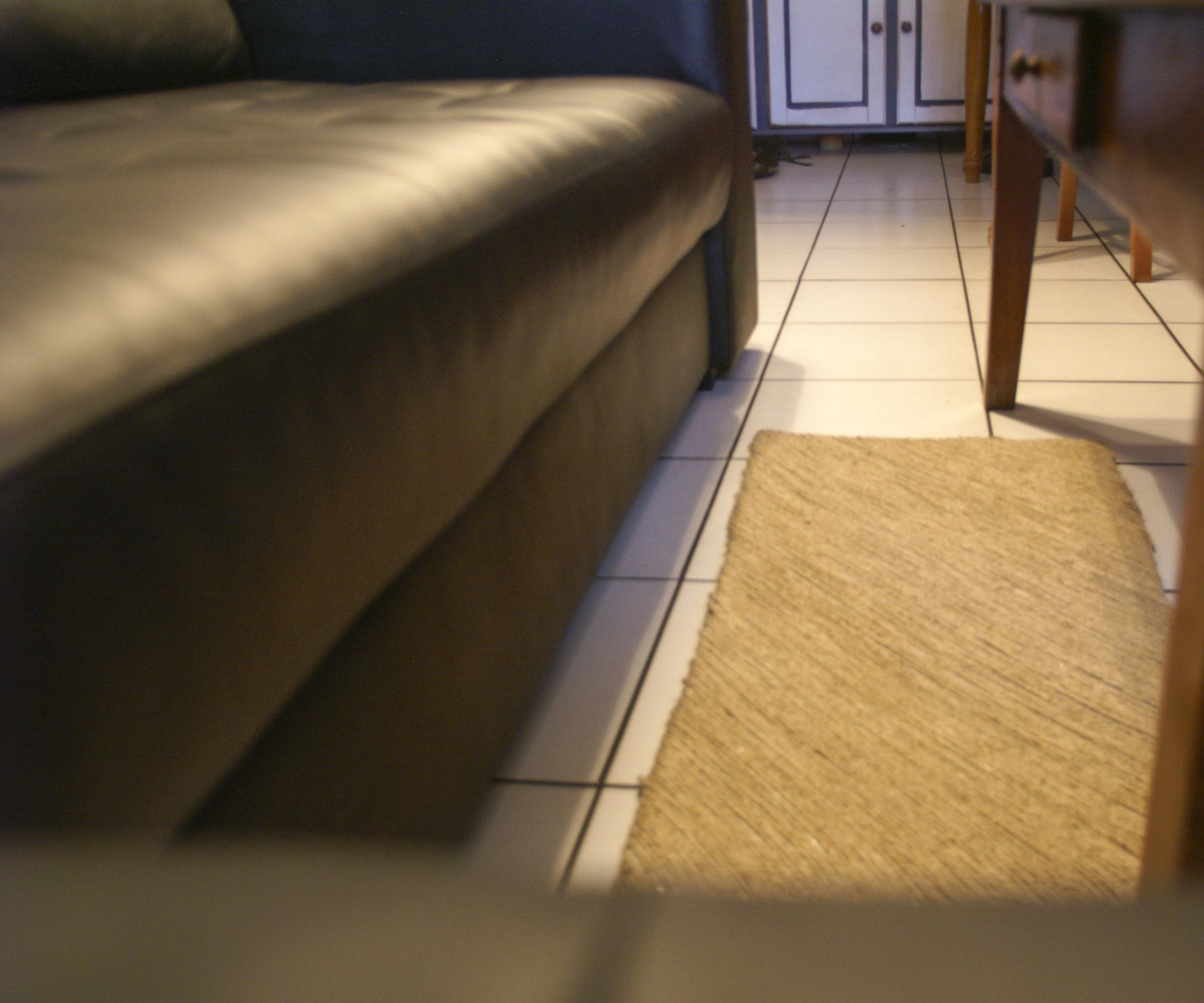 DIY - Linen yarn carpets