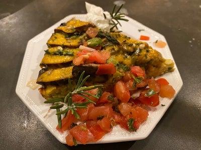 Portobella and Asparagus Frittata
