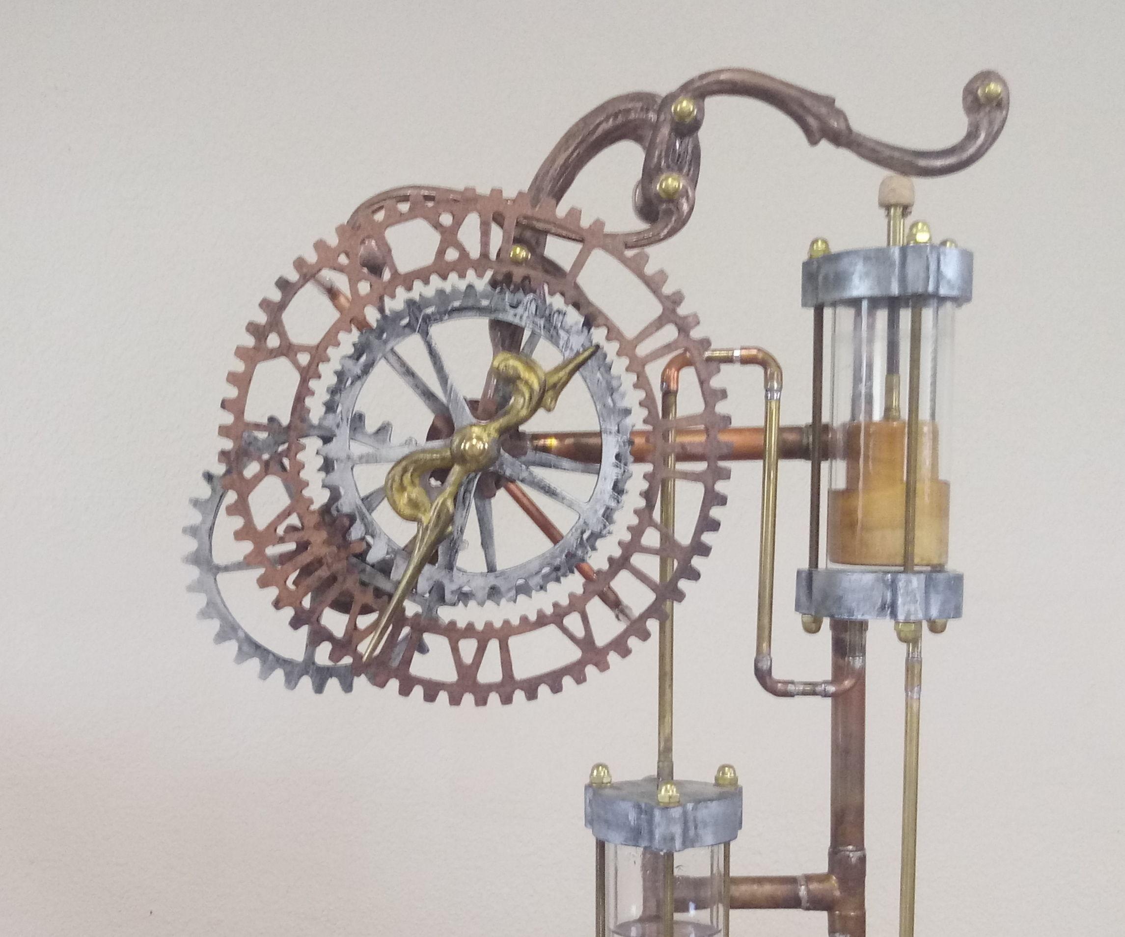 "Steampunk Clepsydra (""Water Thief) Clock"
