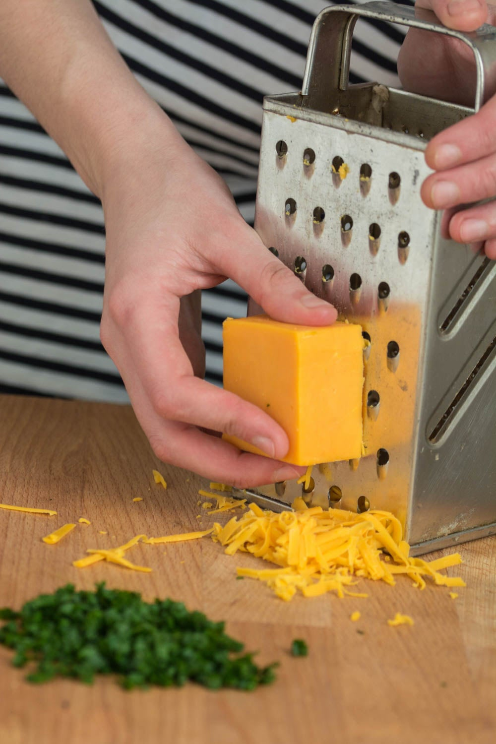 Grate the Cheese and Chop the Chives