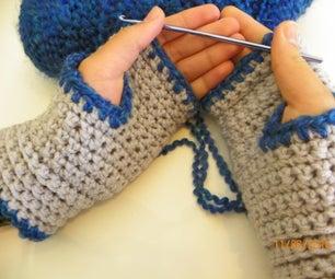 Easy Cozy Crochet Fingerless Gloves