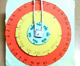 "Making of ""Calender Wheel"""