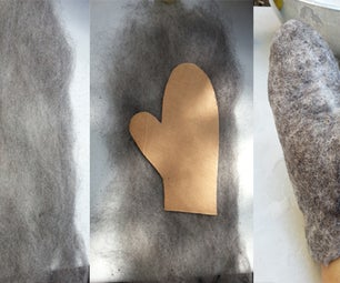Easy Felted Wool Mittens