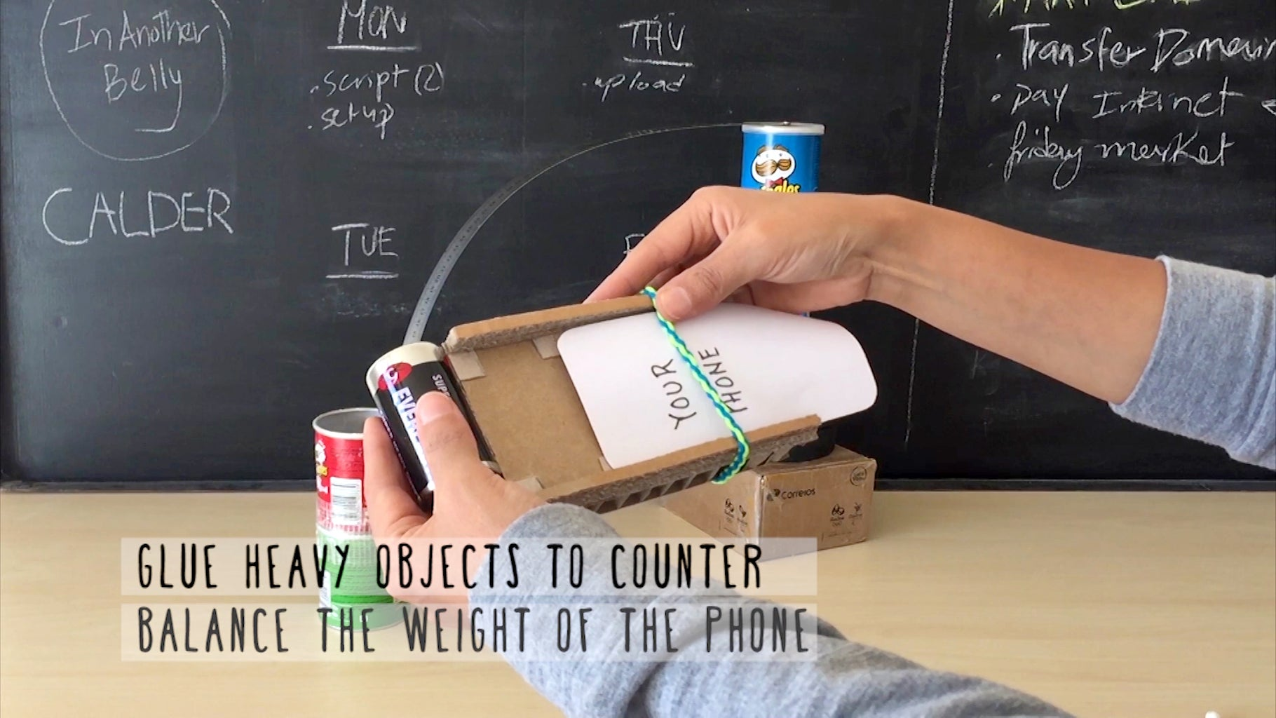 Counter Balance the Weight of the Phone