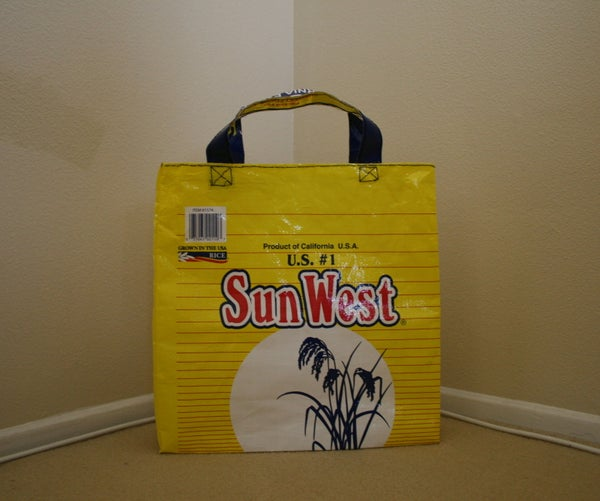 Reusable Grocery Bag Made From a Rice Bag