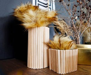 Dollar Store Wood Dowel Vase