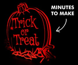 How to Make a Halloween Sign Using Perspex & L.E.D's