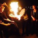 Fire bubbles for holding and sharing!