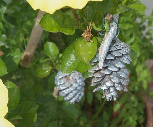 Silver Pinecone Decoration