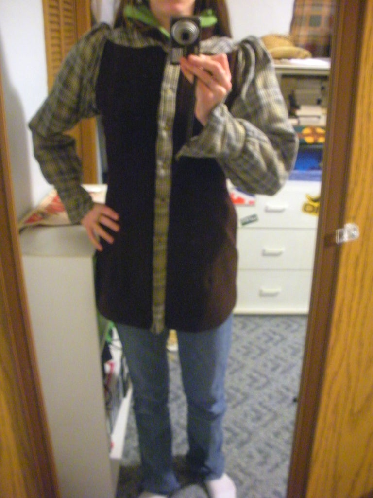 Jacket From a Skirt and Shirt.
