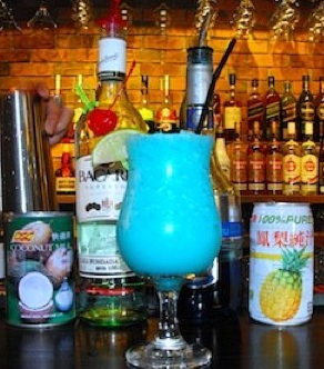 Cocktail Recipes:  How to make the tropical Blue Hawaiian Cocktail