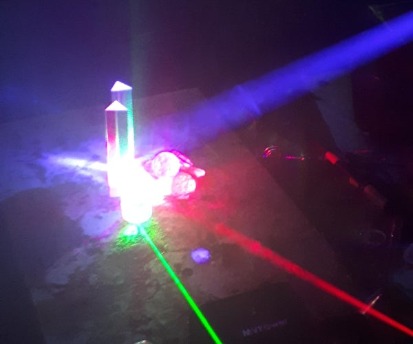Fog Machine and Laser  Combined Show.
