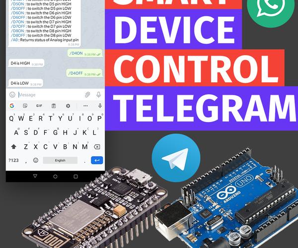 Controlling ESP8266 Using Telegram App