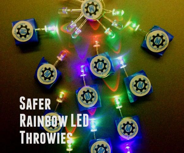 Community Kids' Build: Safer Rainbow LED Throwies
