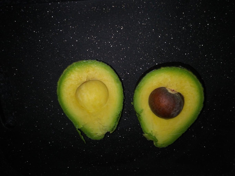 Cut Large Avocado