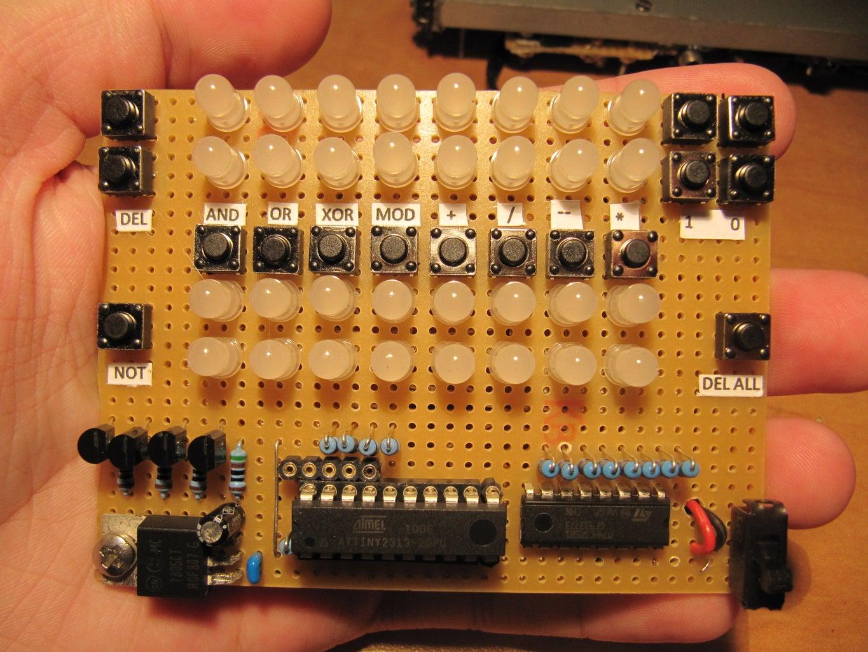 LED Binary Calculator