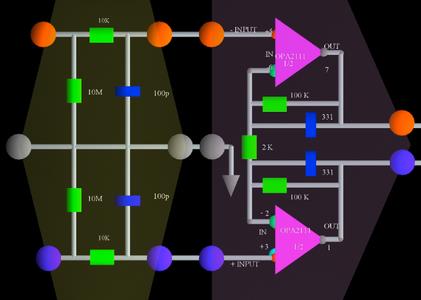 Open Brain Wave Interface Hardware Circuit Diagram