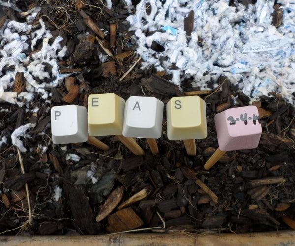 Pinckneyville Garden Keyboard Plant Markers
