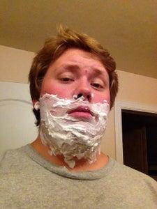 Spread Shaving Cream Over Desired Areas