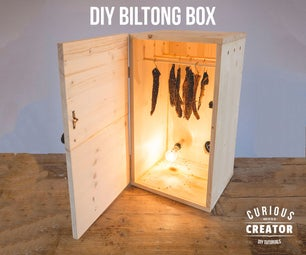 Wooden Biltong Box