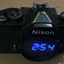 Digital SLR Camera Clock Recycled.