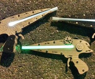 Easy Steam Punk Laser Pistol That Lights Up