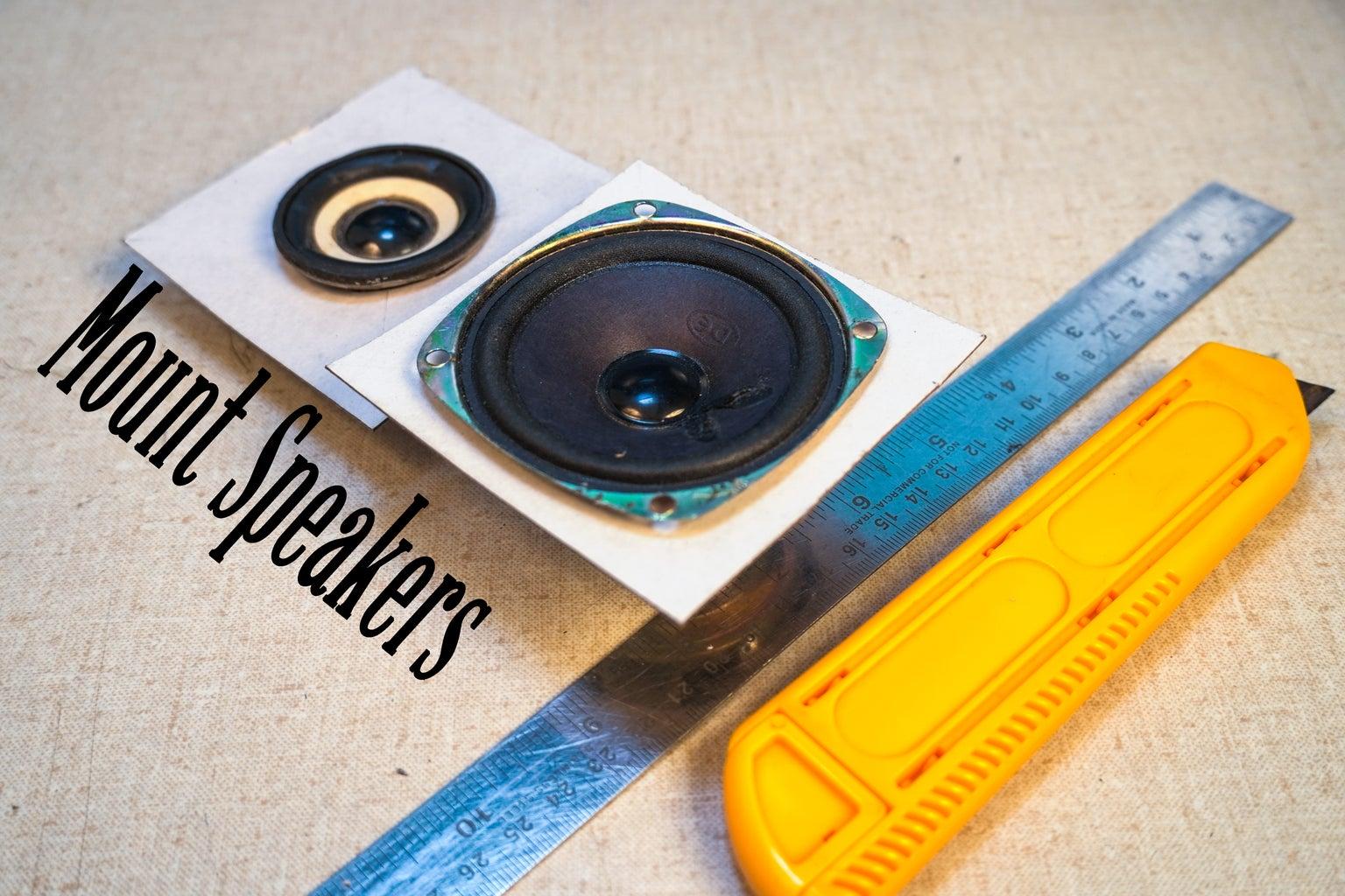 Cut Out Cardboard for Speaker Mount