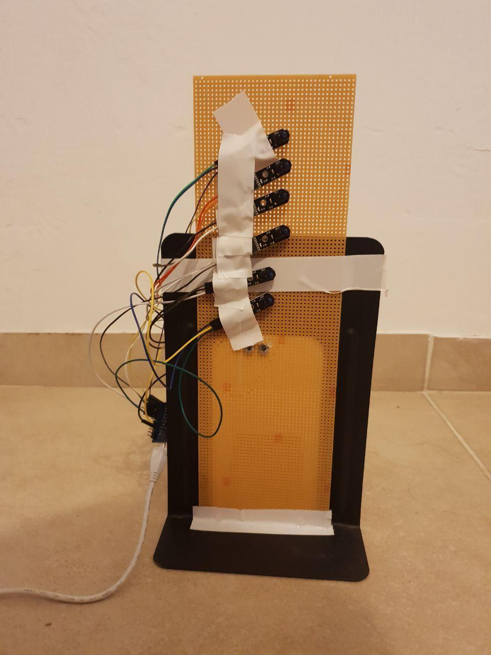 Place All the Sensors on Anything That Can Hold It Vertically.