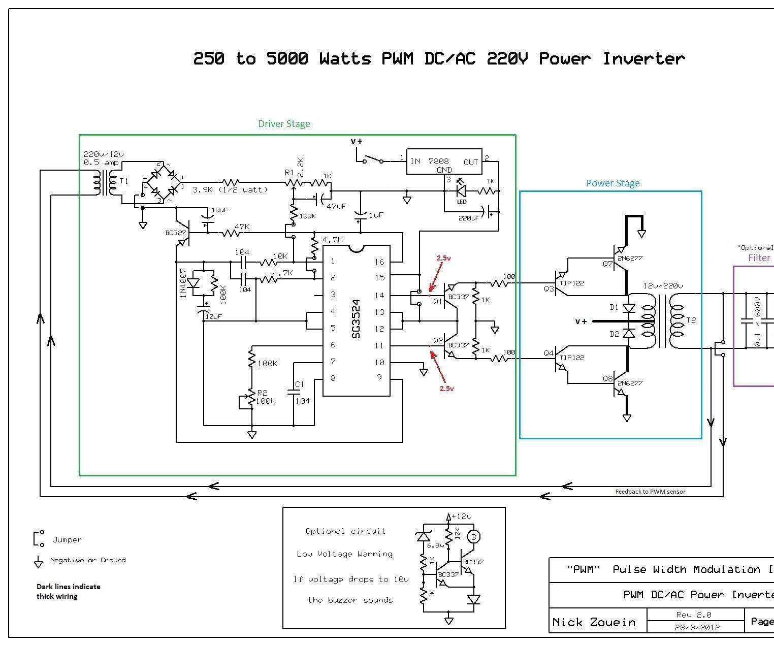 250 to 5000 watts PWM DC/AC 220V Power Inverter