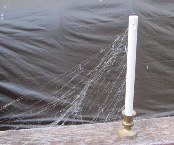 Hot Glue Cobwebs