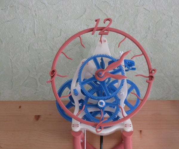 Clock 8 Days 3D for Bed 20x20