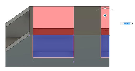 Design Process - Stepper Motor Mount - Side Walls - Cutouts