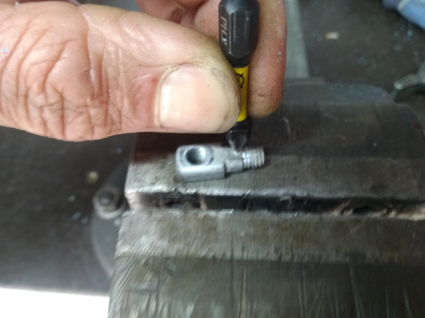 Make the Anchor Bolt Which Clamps the Cable