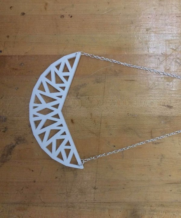3D Printed Geometric Necklace