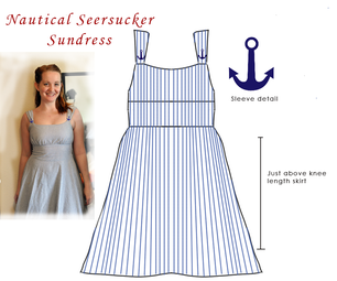 Nautical Seersucker Sundress