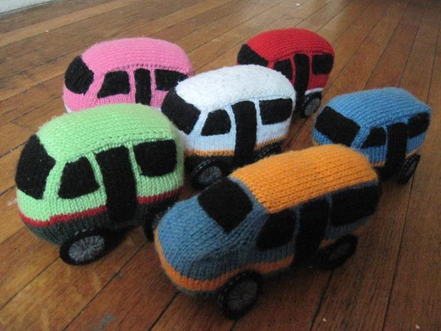 Angkot Bandung knitted amigurumis