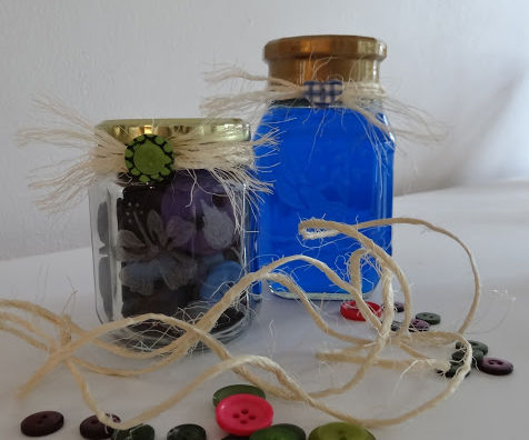 Recycle food jars as gifts