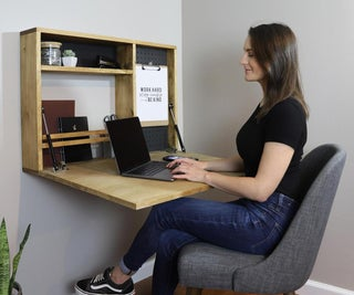 DIY Fold Down Wall Desk