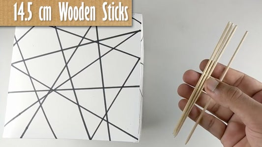 Take 4 Wooden Sticks With Pointed Ends of Given Dimensions (REFER VIDEO)
