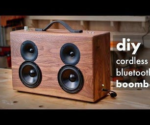 DIY Battery Powered Bluetooth Speaker // How to Build - Woodworking