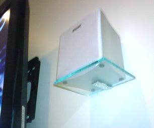 Semi-invisible Surround Sound Speaker Shelves
