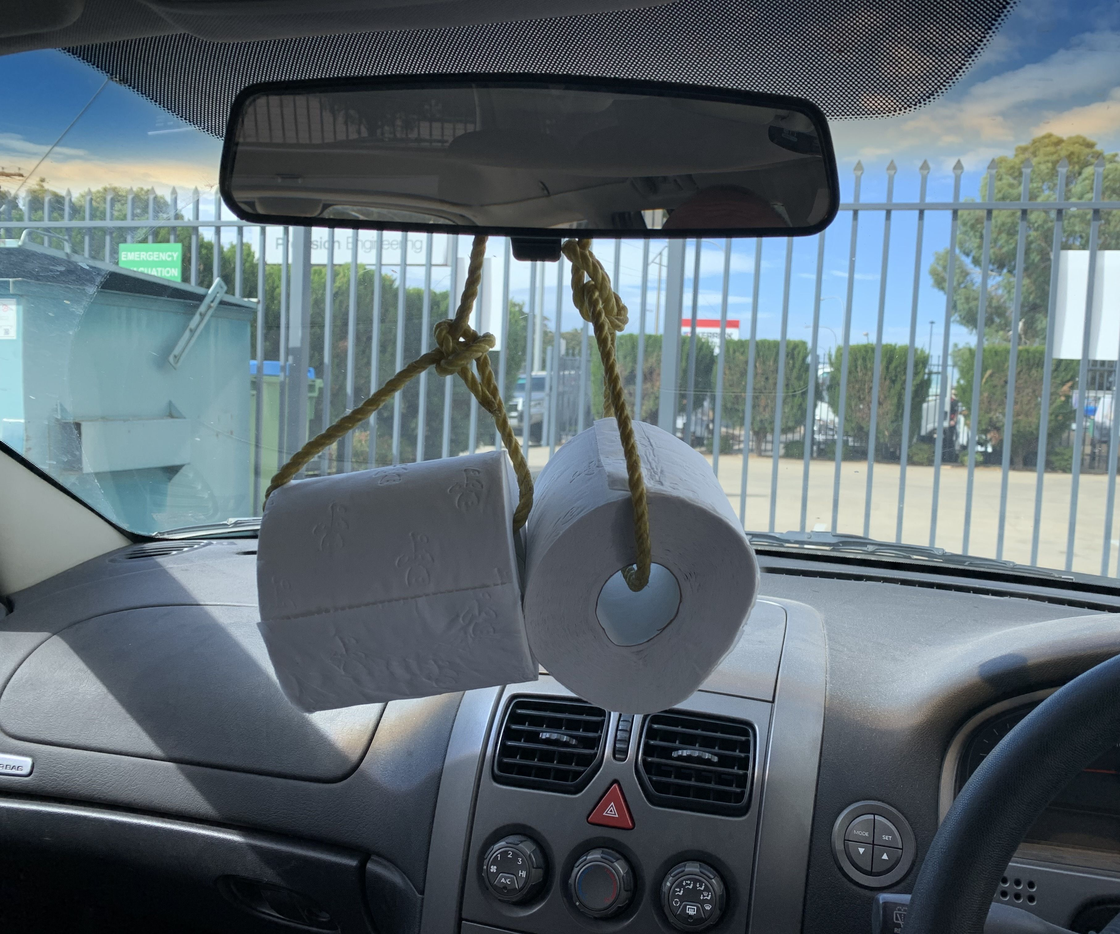 Toilet Paper Hanging Car Ornament