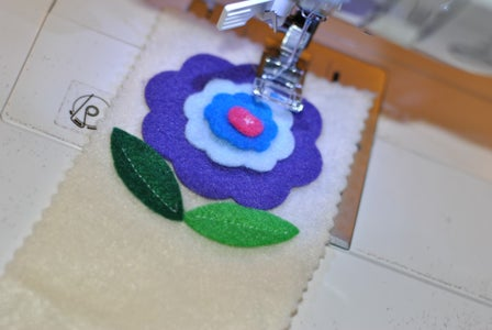 Attach Flowers to Sleeve