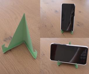 1分钟的纸板电话支架(没有胶水)
