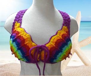 Rainbow Crochet Bikini