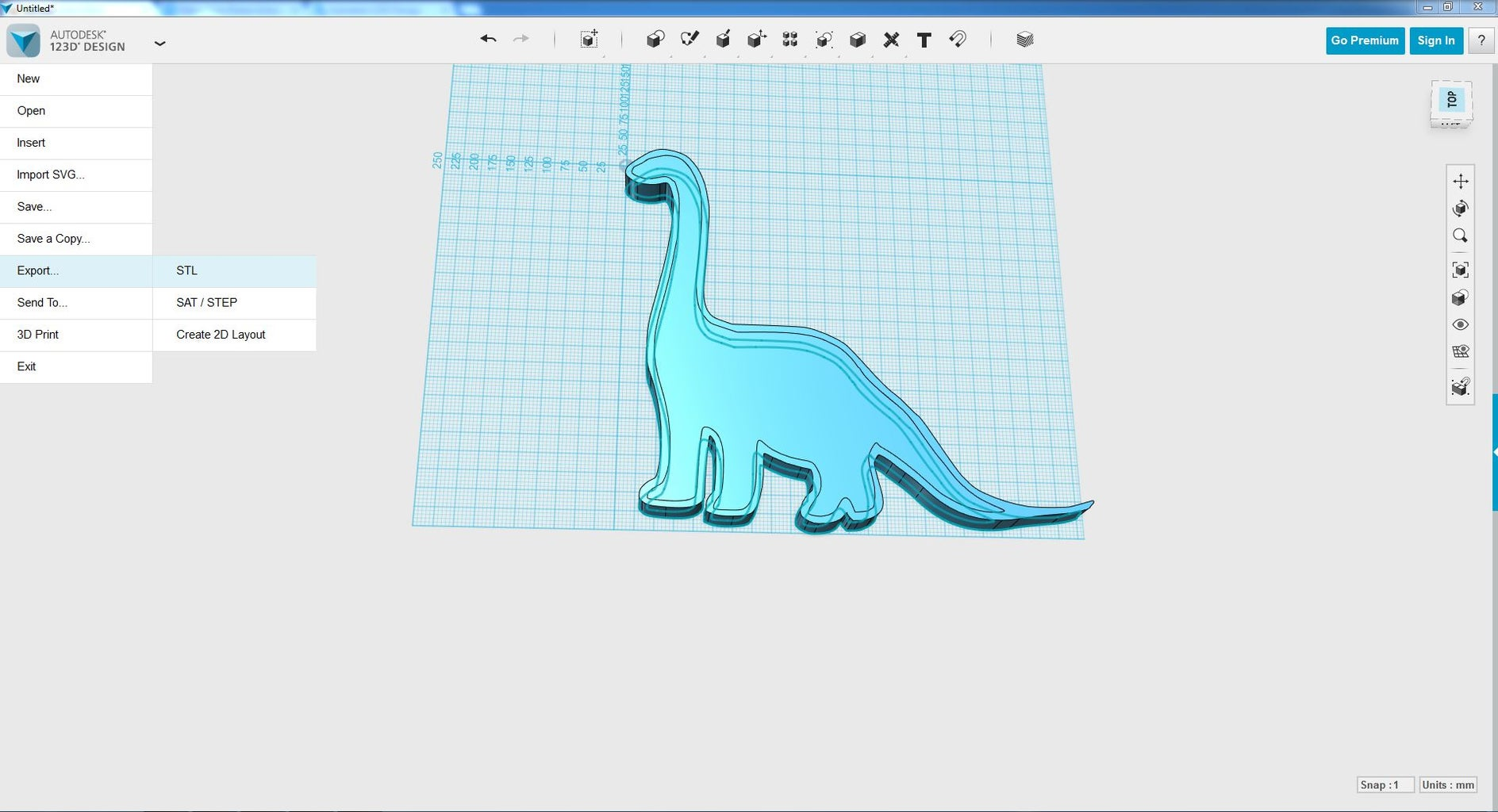 Export .stl for 3D Printing