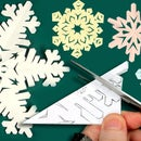 Six-pointed Paper Snowflake Cutting Instruction