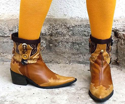 My DIY Refashioned Cowboy Boots